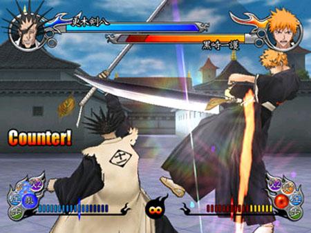Kenpachi heeft geen moeite met Ichigo.