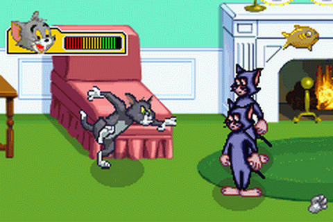 Het eerste level uit Tom and Jerry: The Magic Ring.